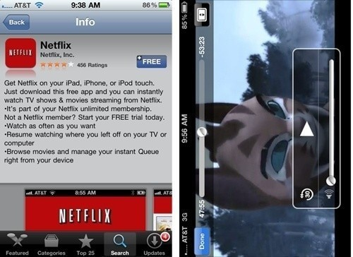 Netflix now available for iPhone and iPod Touch