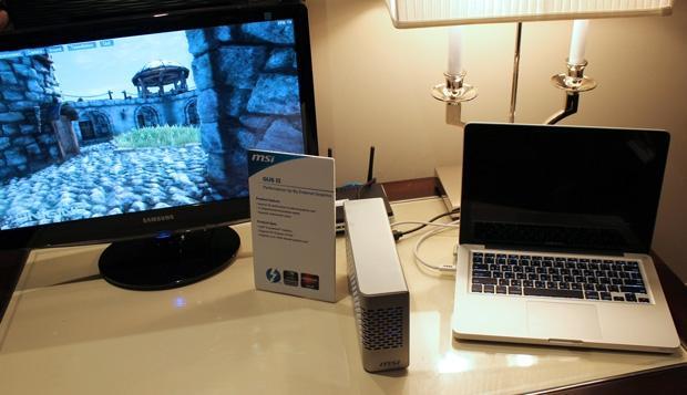 MSI's prototype GUS II - external graphics for laptops