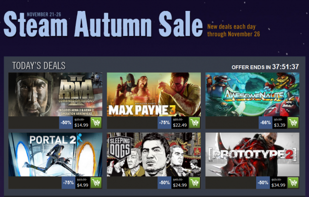 Steam's Autumn sales begins, offers The Walking Dead at 50