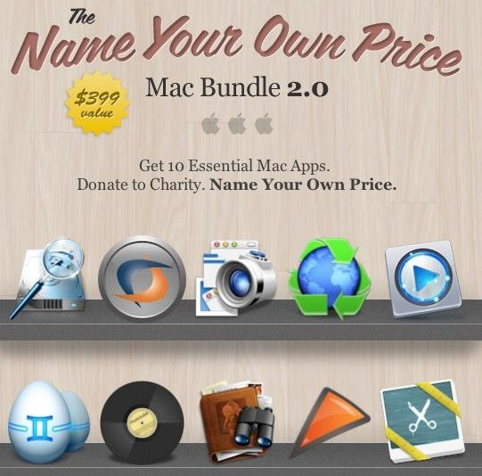 Name Your Own Price Mac Bundle 2 0 up for sale, 10% of sales