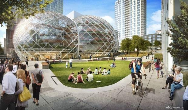 amazon_looking_to_take_on_apple_for_coolest_campus_ever_plans_rainforest_bio_dome_in_downtown_seattle