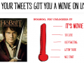 Redbox Instant offering free rental of 'The Hobbit' after users unlocked the freebie through a tweet-to-stream promotion