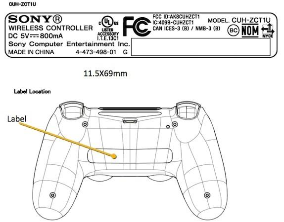 ps4 controller appears at the fcc