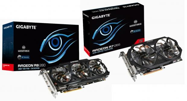 GIGABYTE unveils two new AMD Radeon GPUs, R9 280 and R7 265 OC