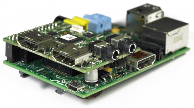 This new add-on board for the Raspberry Pi gives you an HDMI