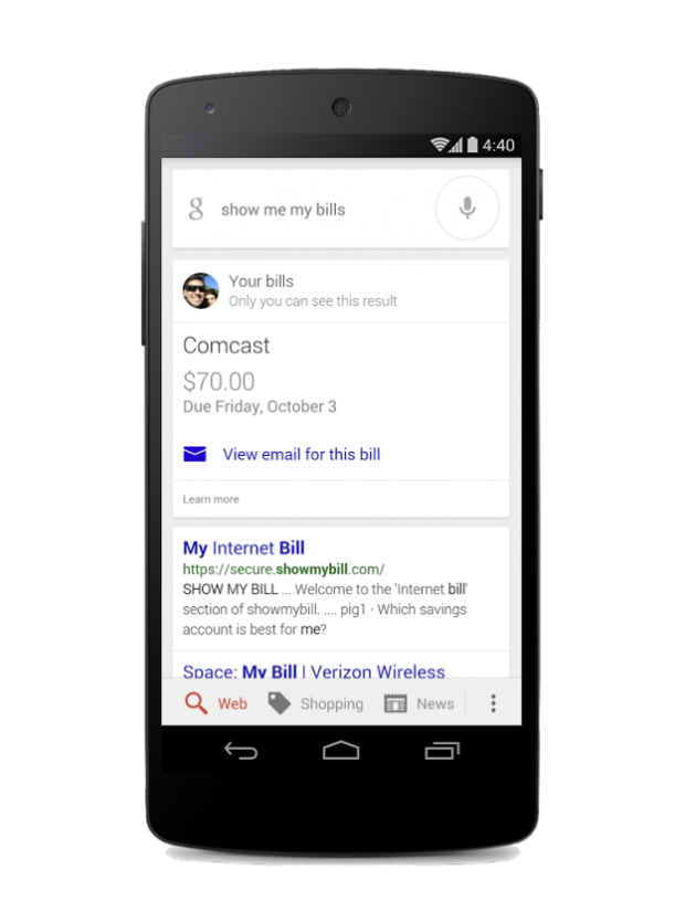 Google Now will now remind you to pay your bills