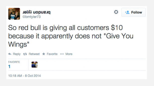Man sues Red Bull because the energy drink didn't give him wings