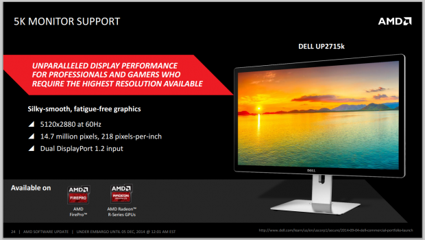 AMD's new Catalyst Omega drivers allow 5K monitor support