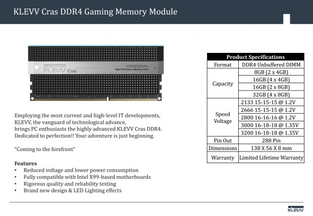 SK Hynix launches KLEVV DDR RAM lineup, targeted at high-end