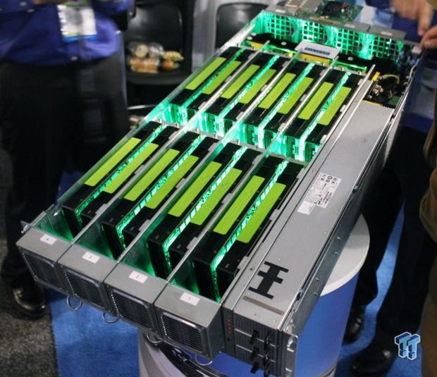 One Stop Systems shows off its 16 GPU monster machine at GTC