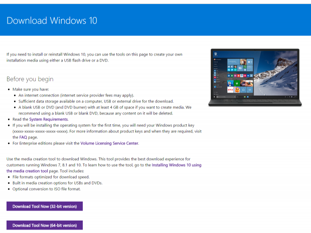 Download Windows 10 to a USB flash drive or ISO file with