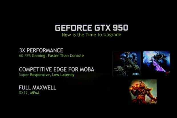NVIDIA launches GTX 950 DirectX 12 ready GPU for $159