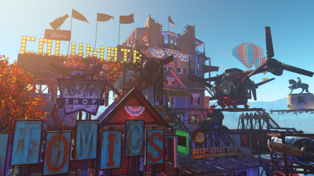 BioShock's floating city of Columbia gets recreated in Fallout 4