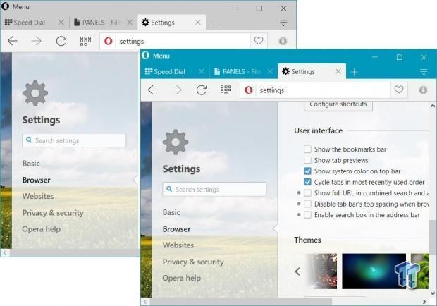 Opera 36 features an interface overhaul, Windows 10 love