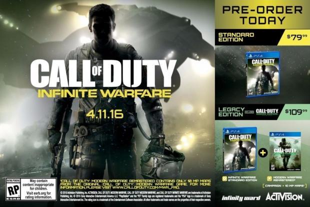 infinite warfare modern warfare remastered Activision