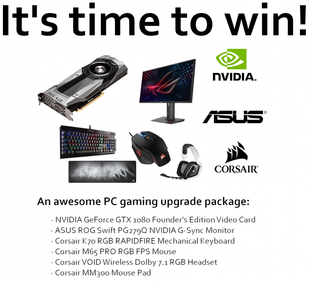Giveaway: NVIDIA GeForce GTX 1080 FE Upgrade Package