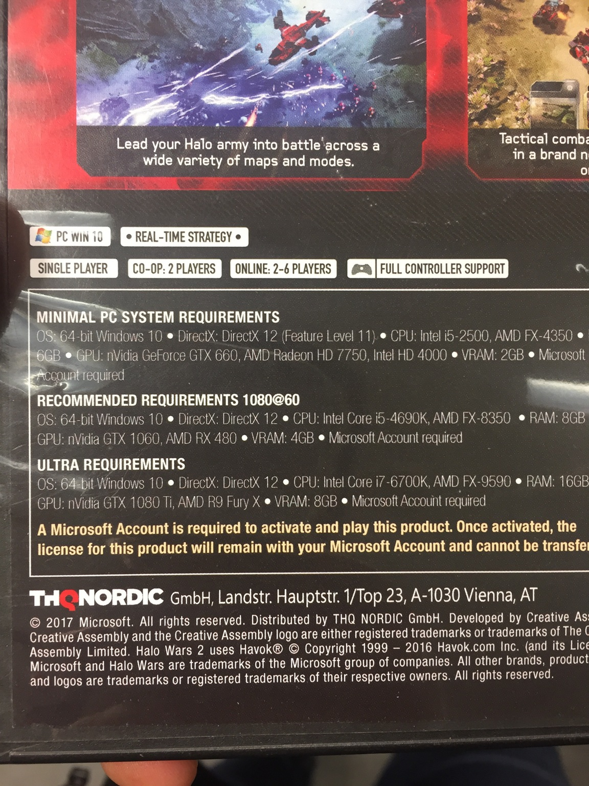 GTX 1080 Ti teased in Halo Wars 2 official requirements