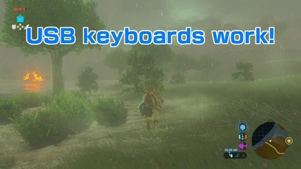 Nintendo Switch supports USB keyboards