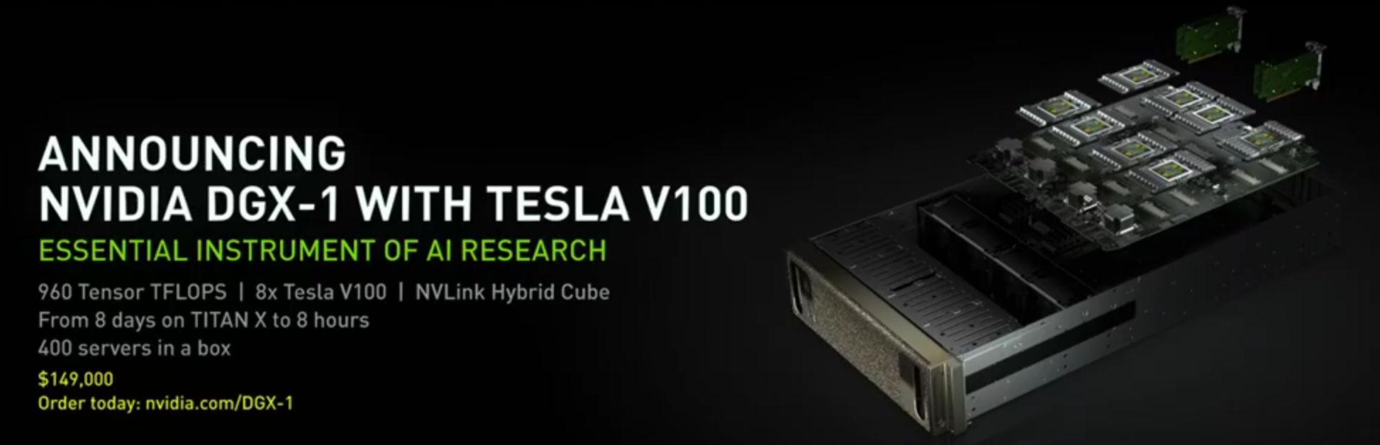 NVIDIA's new Volta-powered DGX-1 costs $149,000