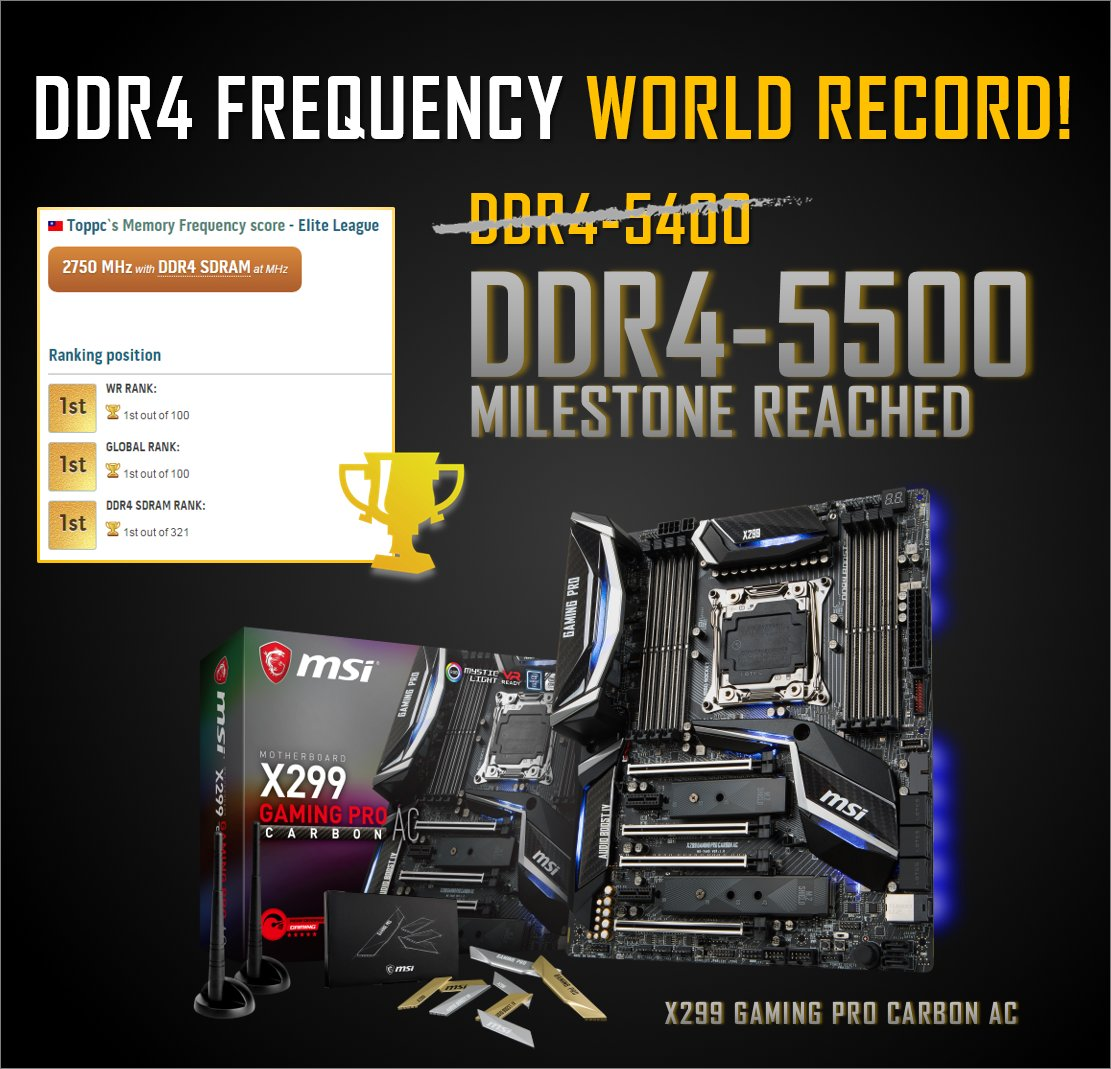 G Skill TridentZ DDR4 hits 5 5GHz with Core i7-7740K CPU