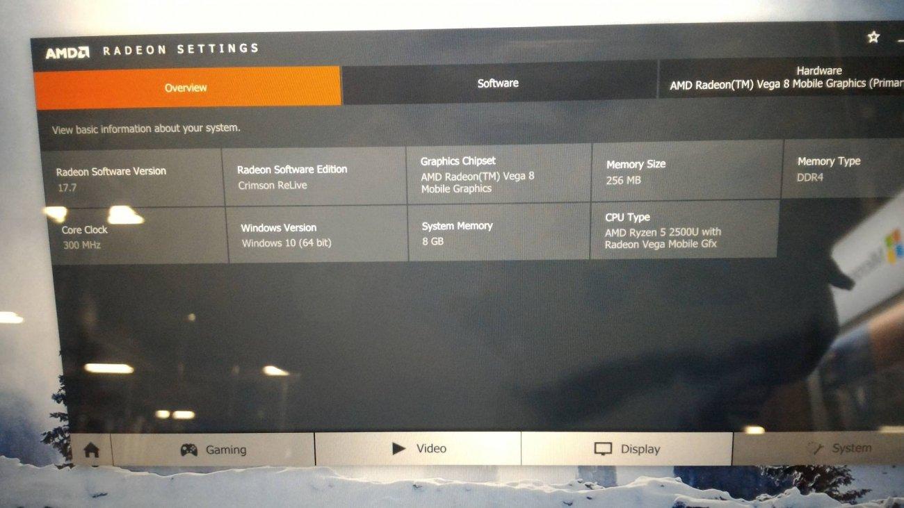 Radeon Vega 8 Mobile 8 Vega Gpu Cores 256mb Ddr4 Tweaktown