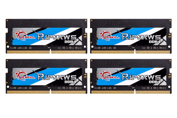 G SKILL reveals world's fastest DDR4-4000 SO-DIMM 32GB kits