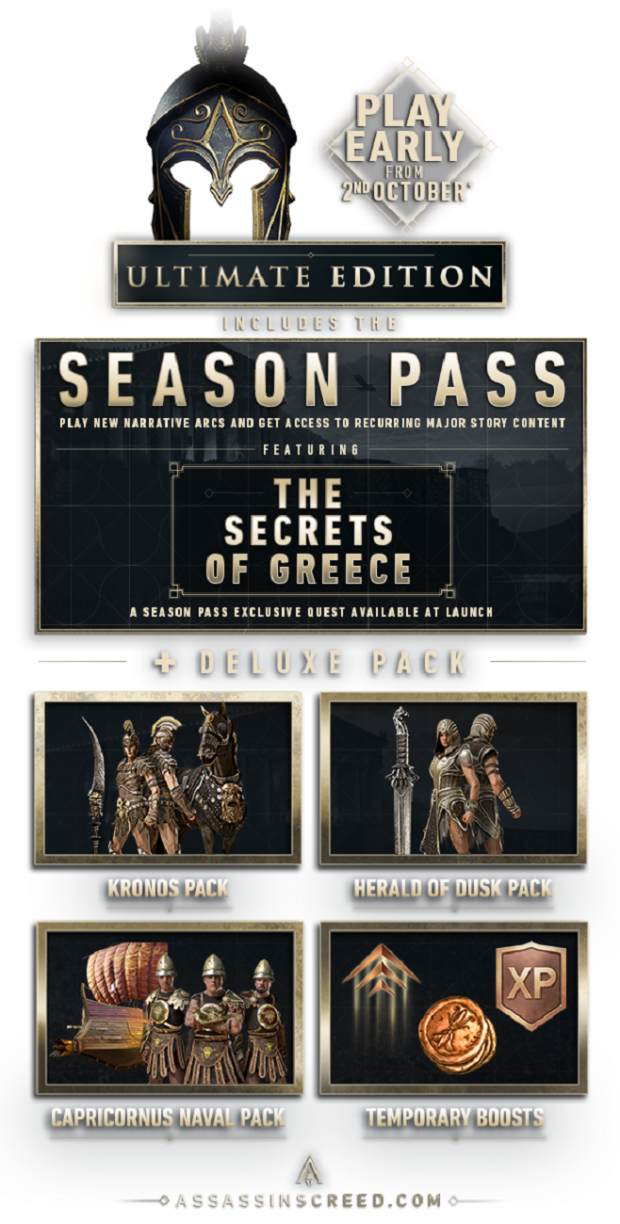Assassins Creed Odyssey Ultimate Gold Deluxe Standard
