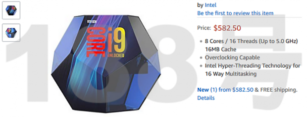 Intel Core i9-9900K packaging spotted, priced at $582