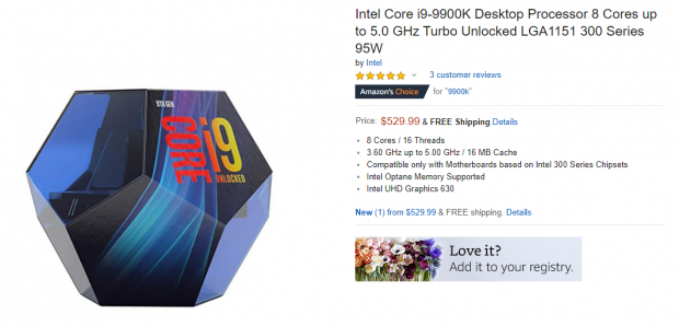 Core i9-9900K costs 66% more, 12% faster than Ryzen 7 2700X