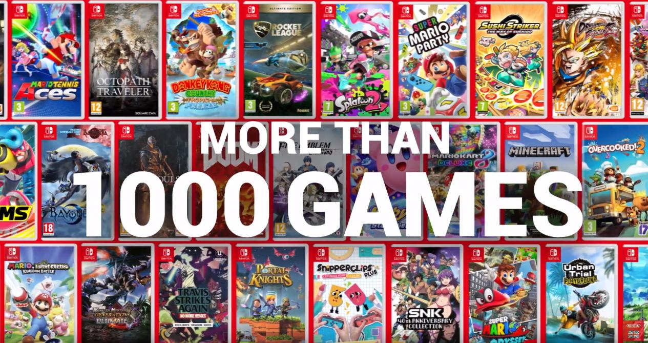 Nintendo Celebrate 1 000 Games On Switch With New Trailer Tweaktown