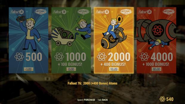 Over-monetization will kill Fallout 76