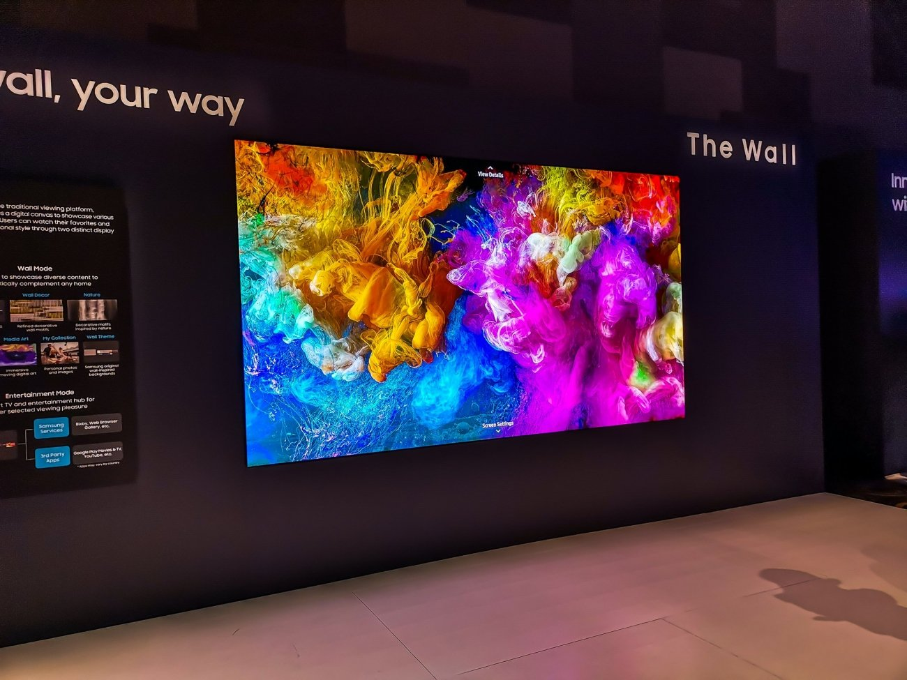 Samsung's new Wall TV unveiled: 219 inches of MicroLED tech