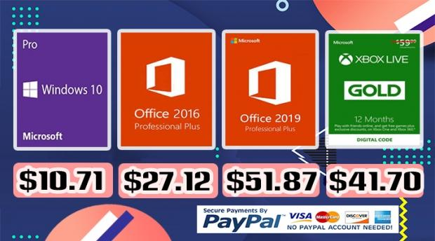 BIG SALE: Windows 10 Pro for $10 71 and Office 16 for $27 12