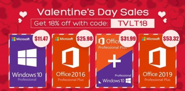 GoodOffer24 Special Valentine's Deals: Windows 10 for $11 47