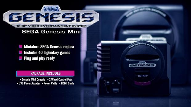 SEGA Mega Drive mini comes with 40 games, out in September