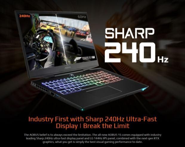 AORUS 15 gaming laptop refresh: 1080p 240Hz LCD, RTX 2070