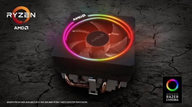 AMD Ryzen 7 and 9 Wraith Prism fans get Razer Chroma support