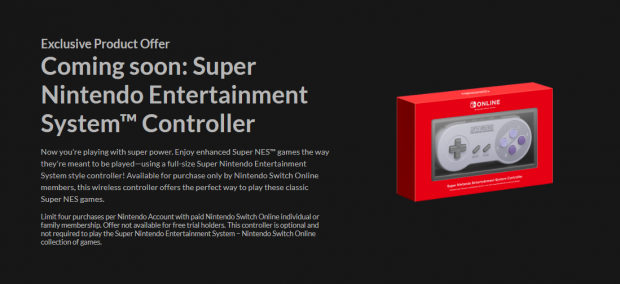 Switch's $30 SNES controller: no rail charging, includes one