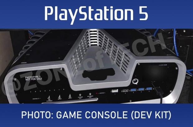 The first real photo of a PlayStation 5 dev kit appears