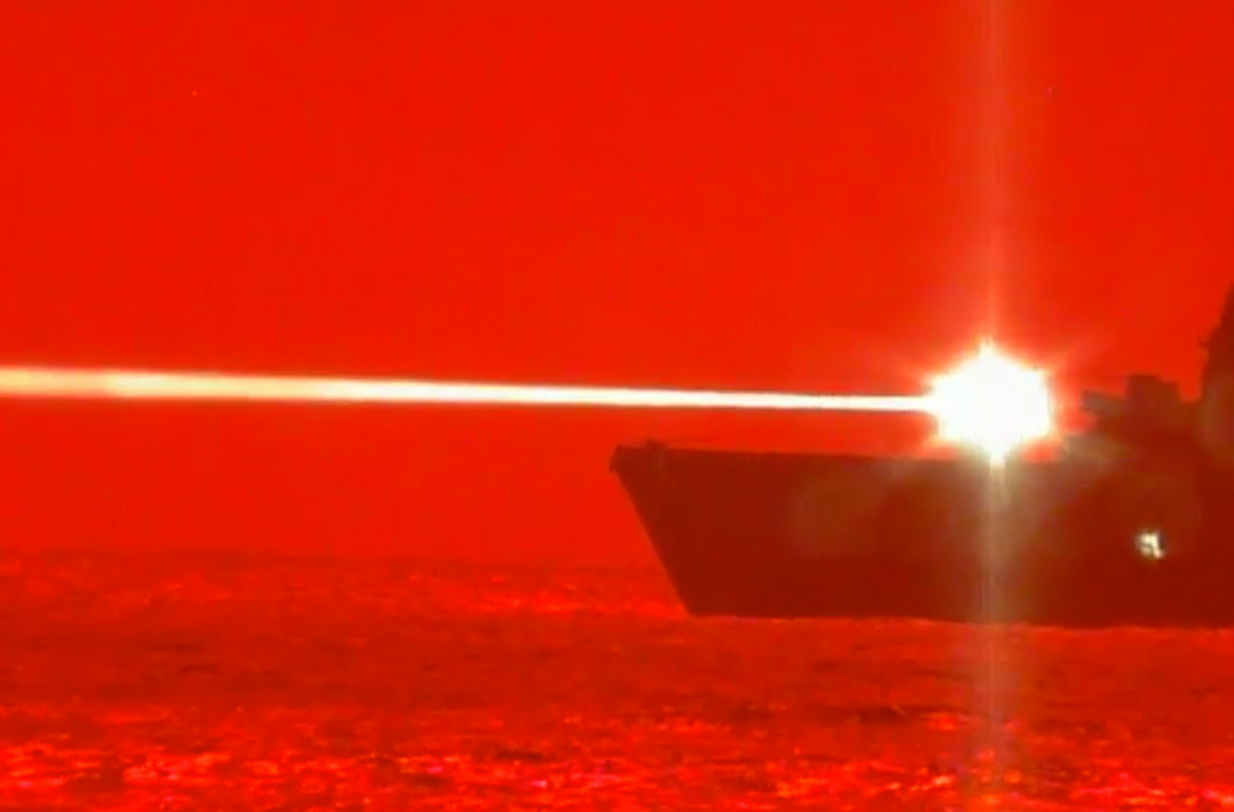 Image of article 'US Navy tests new laser weapon system, destroys aircraft mid-flight'
