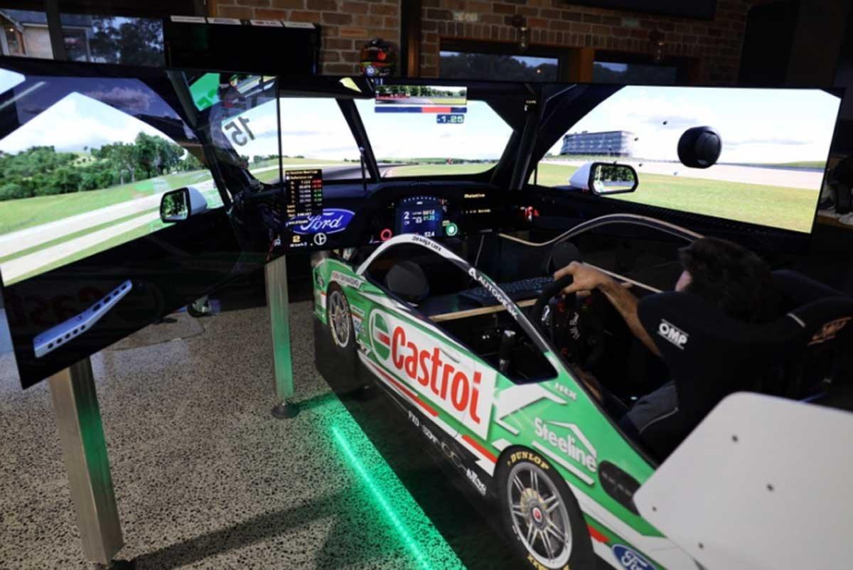 LG Australia Builds A Virtual Supercar Racing Simulator