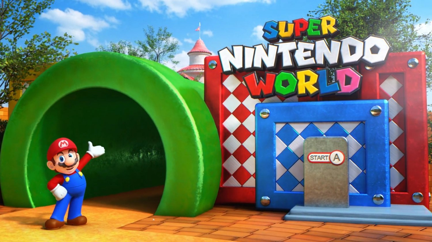 Super Nintendo World theme park looks like a real life Mario game - TweakTown