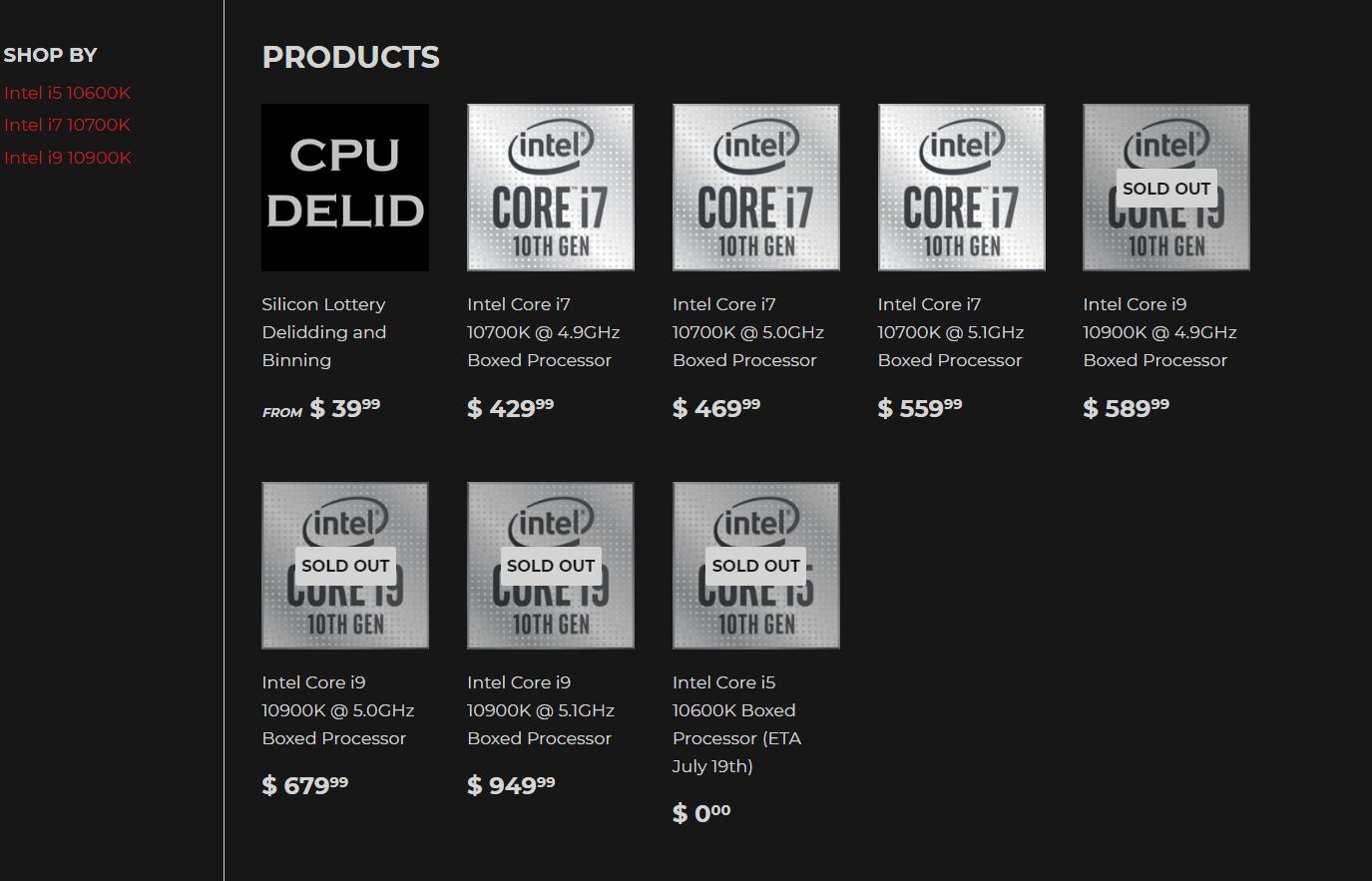 Silicon Lottery: Core i9-10900K 5.1GHz yang sudah dipasangkan sebelumnya semua core harganya $ 949 06 | TweakTown.com