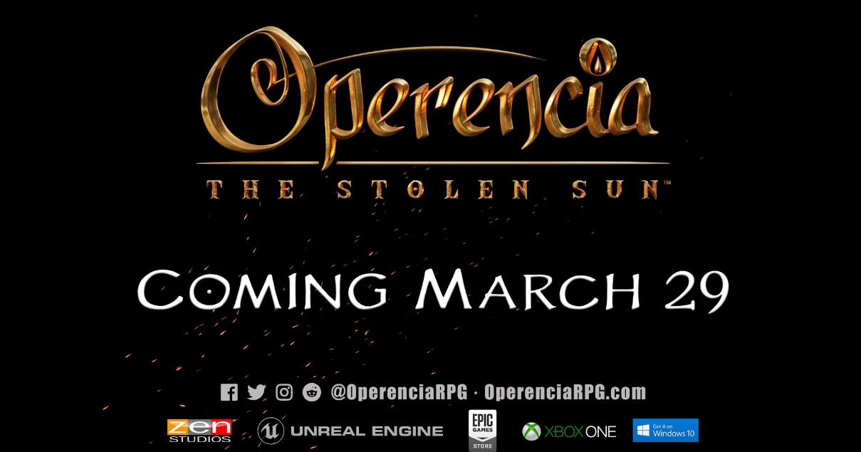 Zen Studios' Operencia: The Stolen Sun Launches March 29 for