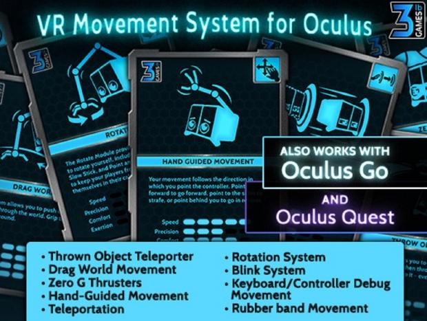 VR Movement System for Oculus Quest and Oculus Rift S