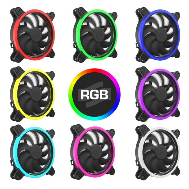 SilentiumPC ring-RGB fan series Corona HP RGB receives 140 mm addition