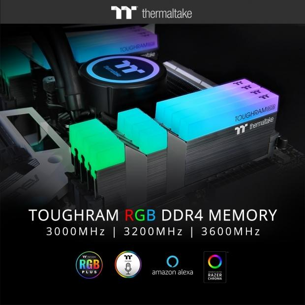 Thermaltake Launches TOUGHRAM RGB DDR4 Memory Series 3600MHz