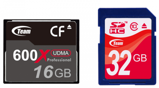Team launches CF 600X and SDHC Class10 super-speed memory cards