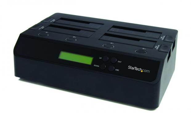 startech_s_new_hard_drive_duplicator_simultaneously_duplicates_contents_of_a_hard_drive_onto_three_additional_hard_drives_without_requiring_a_computer