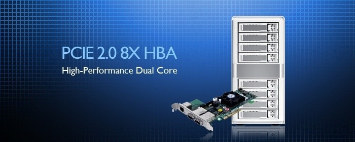 new_high_performance_dual_core_sas_sata_raid_processor_pcie_2_0_8x_hba